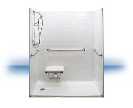 Walk in shower in Underwood by Independent Home Products, LLC